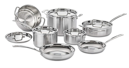 cuisinart mcp-12n stainless steel cookware sets