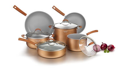 image of COOKSMARK 10 Piece Set with Glass Lids